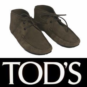 Tod's Mens/Womens City Gommino Suede Ankle Boots
